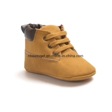 Boy′s Leather Sneaker Shoes Lace up Snow Boots Warm ESG10362