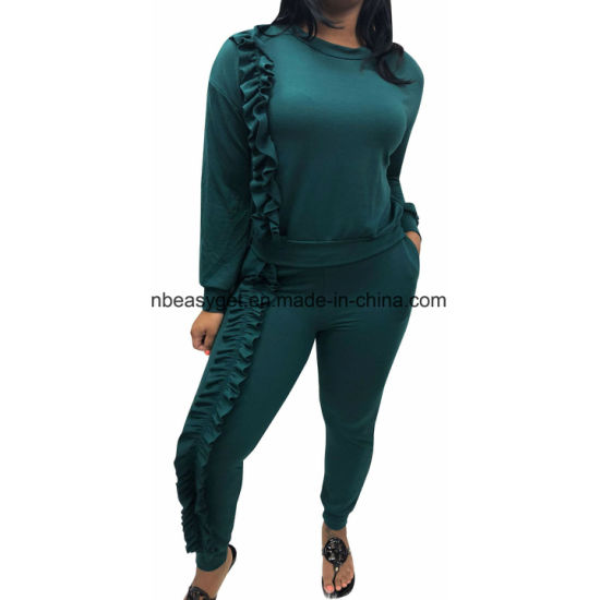 Womens Loose Casual Jumper Scoop Legs Long Sleeve Jumpsuits ESG10453