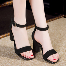 Women′s High Heel Toed Dress Buckle Ankle Strap Shoes ESG10583