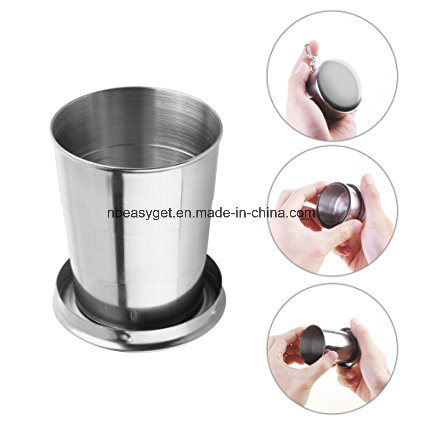 Stainless Steel Foldable Pocket Water Wine Cup Telescopic Mug ESG10318