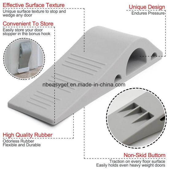 High class decorative silicon rubber door stop for carpets ESG10162