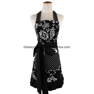 Lady′s Kitchen Fashion Cooking Baking Kitchen Aprons with Pockets ESG10224