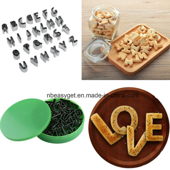 Kitchen Bakery Letters Shape Biscuit Mold Baking Tool Set ESG10158
