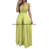 Women′s Sexy Deep Neck Backless Split Maxi Party Dress ESG10258