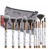 11PCS Brushes with Marble Makeup Bag ESG10485