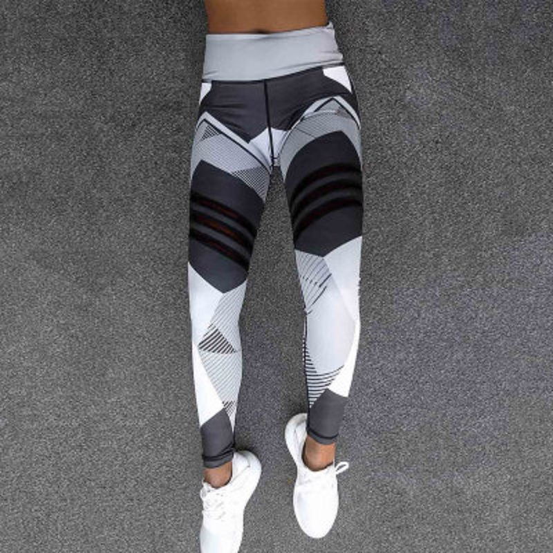 Women 3D Printed High Waist Yoga Pants Fitness Tights ESG13349