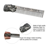 Stainless Steel Beard Comb Pocket Size Anti-Static Hair Care Tool ESG12356