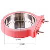 Durable Stainless Steel Hanging Feeding Bowl Fixed Food Water for Pet Cat Dog ESG12370