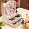 Portable Transparent Cosmetic Storage Box with Drawer ESG12346
