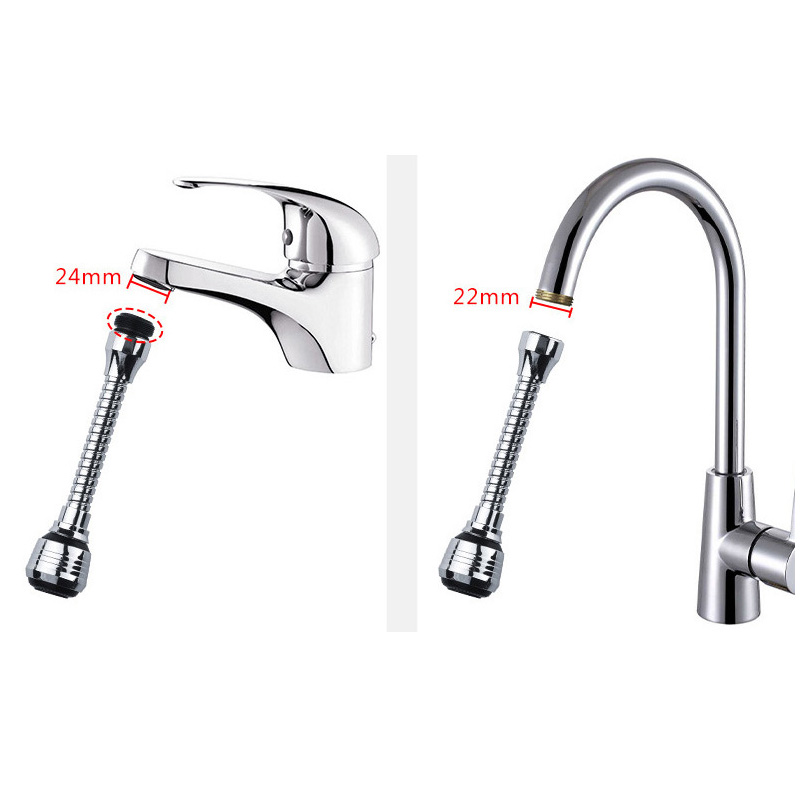 360 Rotate Swivel Faucet Sprayer Attachment Faucet Nozzle Filter Adapter with 2 Function Sink Sprayer ESG11911